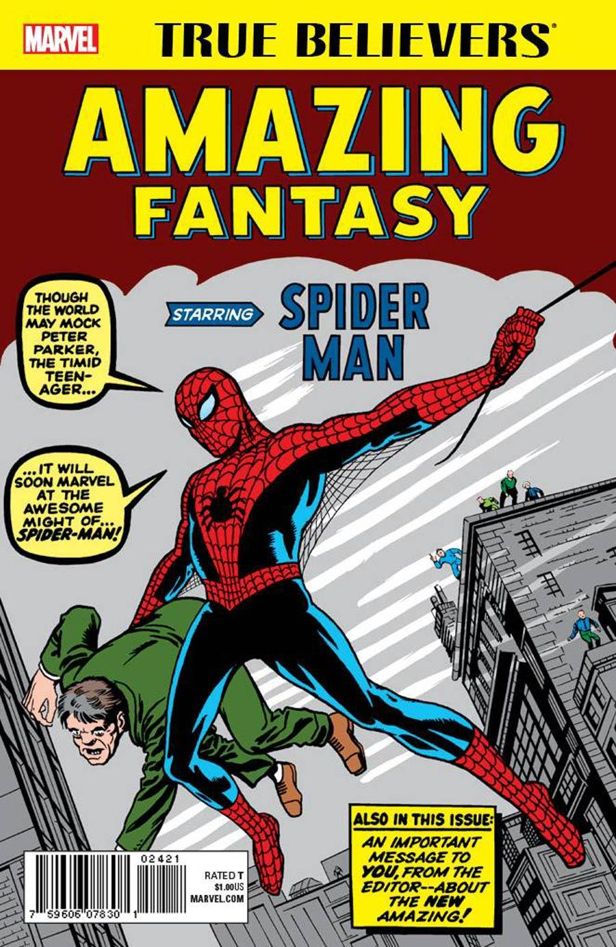 True Believers Amazing Fantasy Starring Spider-Man Vol. 1 #1
